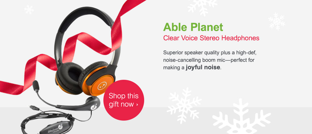 Able Planet. Clear Voice Stereo Headphones. Shop this gift now.