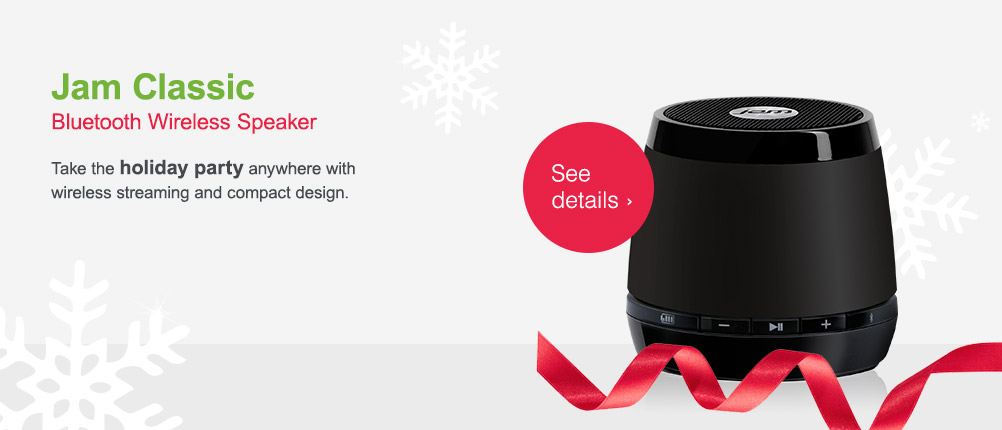 Jam Classic Bluetooth Wireless Speaker. See details.