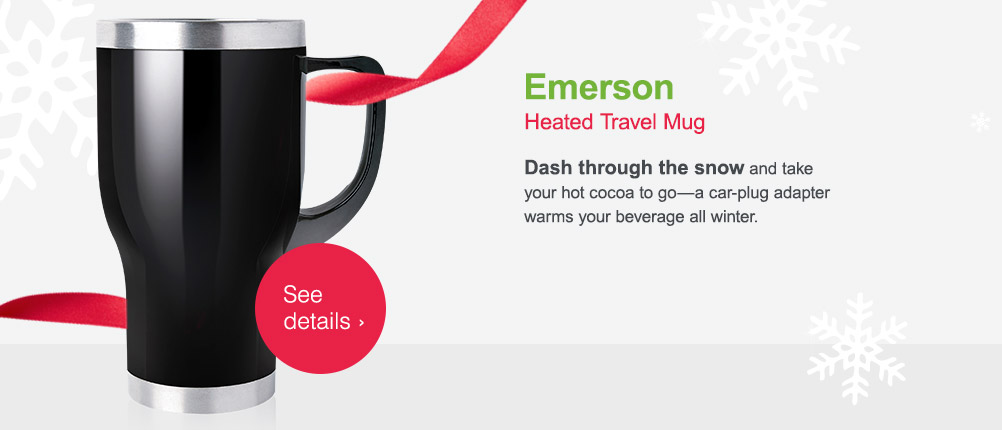 Emerson Heated Travel Mug. See details.