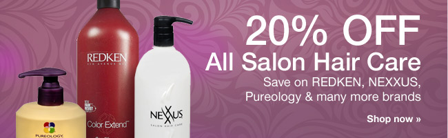 20% OFF ALL Salon Hair Care. Save on REDKEN, NEXXUS,Pureology & many more brands. Shop now