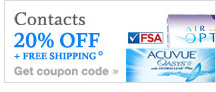 Contacts 20%OFF + FREE Shipping.° Get coupon code
