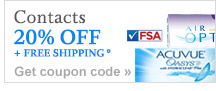 Contacts 20% OFF + FREE SHIPPING.° Get coupon code