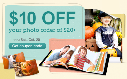 $10 OFF your photo order of $20+ thru Sat., Oct. 20. Get coupon code