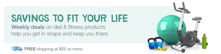 Savings to fit your life. Deals on diet & fitness. Free shipping at $25.