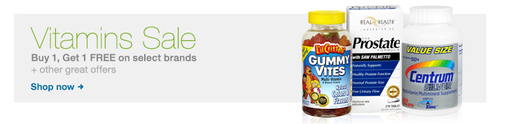 Vitamins Sale, Buy 1, Get 1 FREE on select brands + other great offers. Shop now.
