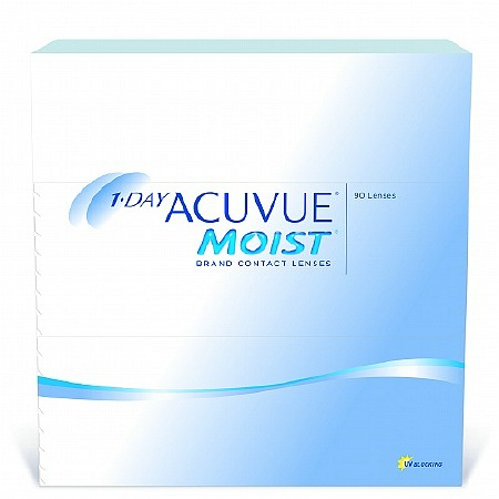 Acuvue 1-Day Moist 90 Pack Contact Lenses 1 Box