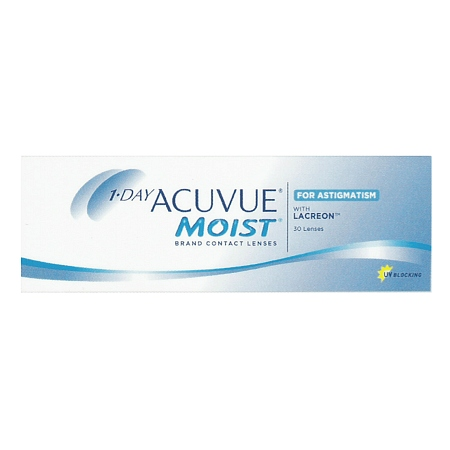 Image of 1-Day Acuvue Moist for Astigmatism 30 pack - 1 Box